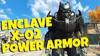Fallout 4 - Enclave X-02 Power Armor Mod Spotlight / Location