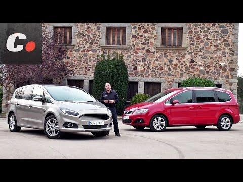 Ford S-Max vs Seat Alhambra | Prueba Monovolumen 7 plazas | Test / Review en español | coches.net