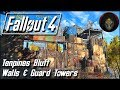 Fallout 4 | TENPINES BLUFF SETTLEMENT - Walls & Guard Towers [Building a Fort]