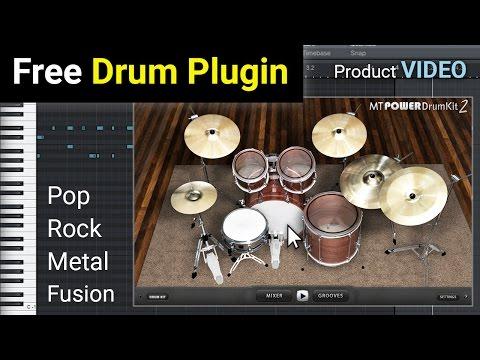 FREE MT Power Drum Kit 2 - AU and VST Drum Plugin - NEW VERSION