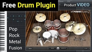 FREE MT Power Drum Kit 2 - AU and VST Drum Plugin - NEW VERSION