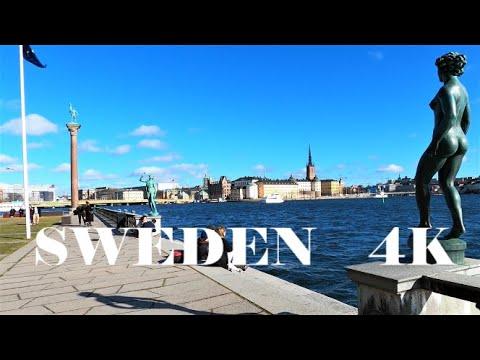 STOCKHOLM WALK 4K: Norr Mälarstrand - Stockholm City Hall