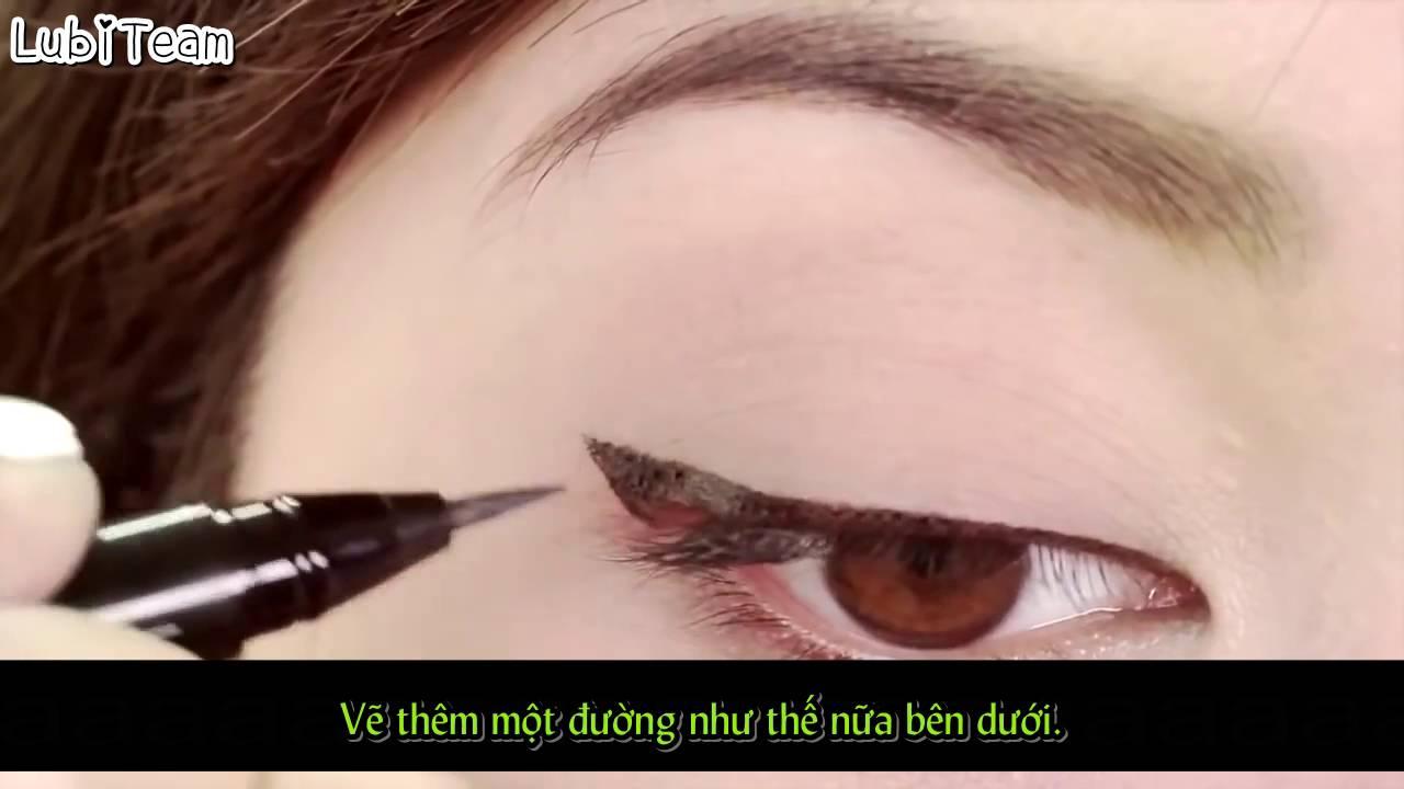 Cách kẻ mắt bằng bút nước [ Makeup 101]