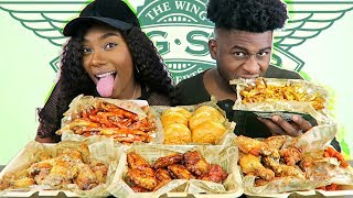WINGSTOP MUKBANG | LEMON PEPPER, GARLIC PARMESAN, SPICY KOREAN BBQ, & HOT