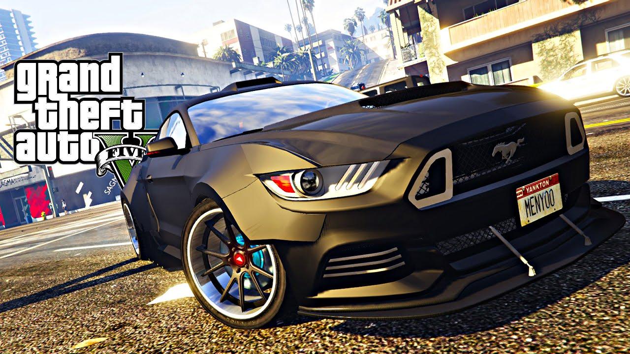 GTA V :Tunado Carro Ford Mustang GT e Corrida Insana