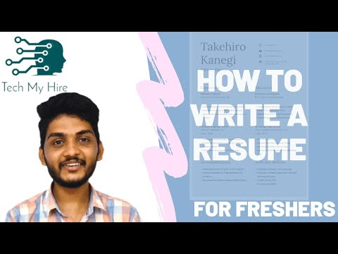 How To Write A Resume For Freshers | Tech My Hire | Resume Writing | Interview Preparation Kit