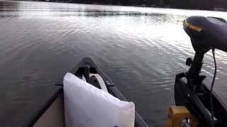 Old Town Canoe with Bow Mounted Trolling Motor
