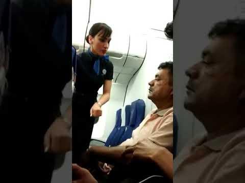 Flight passenger ignored air hostesses