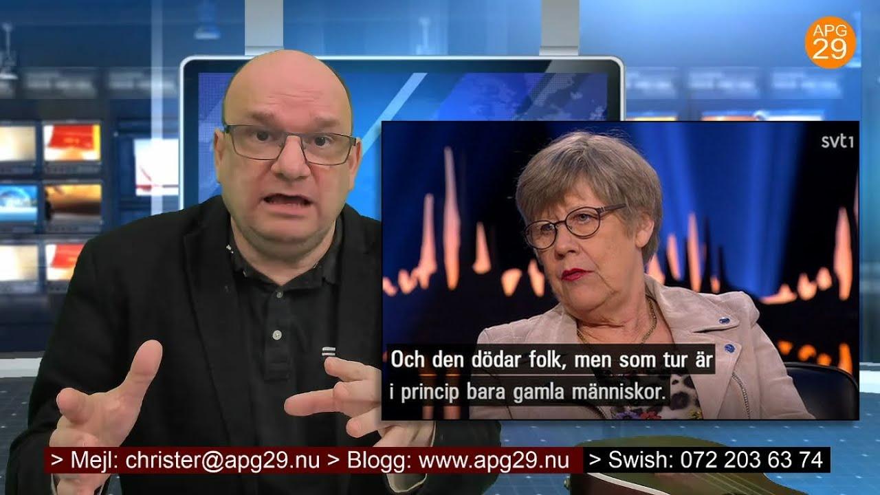 Christer Åberg och läkarenAgnes Wold i Skavlan.