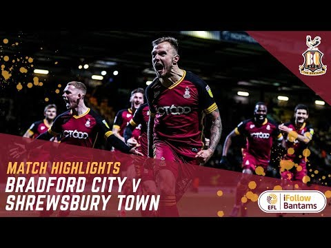 MATCH HIGHLIGHTS: Bradford City 4-3 Shrewsbury Town