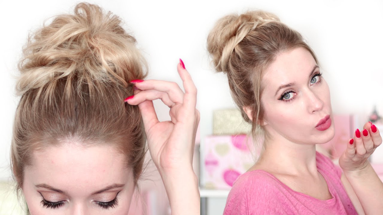 chignon messy bun en 2 minutes tuto coiffure pour la. Black Bedroom Furniture Sets. Home Design Ideas