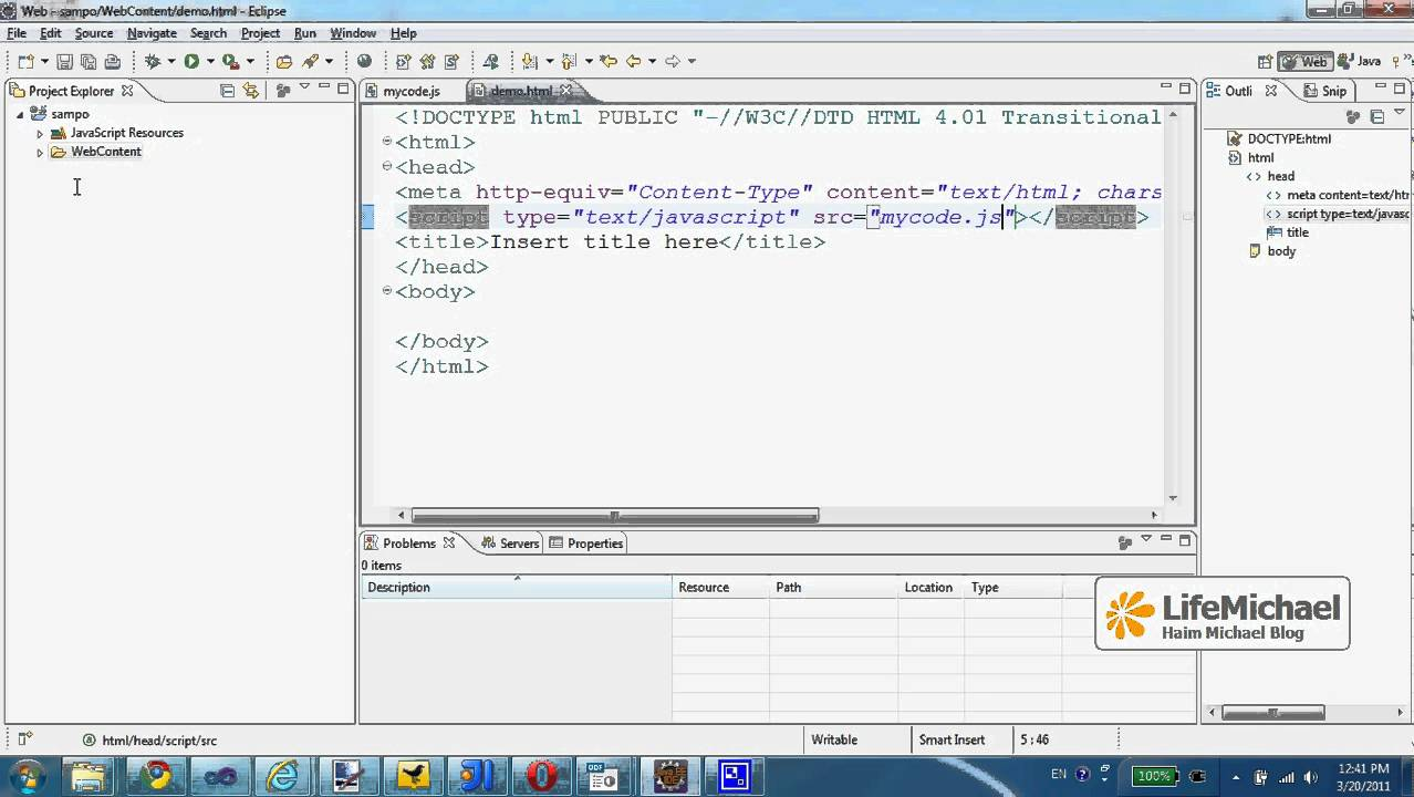 Javascript Coding Using Eclipse Ide