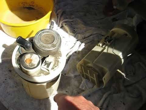 dodge dakota  fuel pump replace  careful youtube