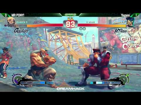 Mr Pony (Gouken) vs Yagami (M.Bison) - DHS14 USF4 Groups