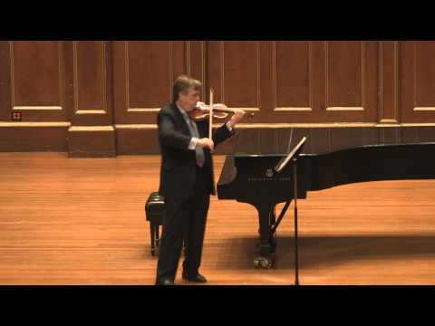 James Buswell Bach Sonata for solo Violin No 5 BWV 1011 in C minor