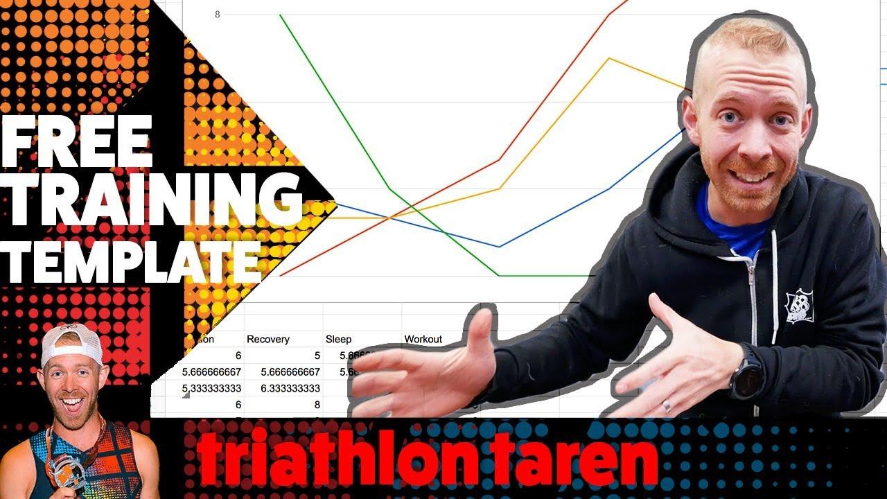 HOW TO build an INTERACTIVE TRIATHLON TRAINING spreadsheet | FREE ...