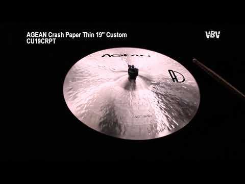 "19"" Crash Paper Thin Custom video"