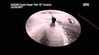 "Crash Paper Thin 19"" Custom Video"