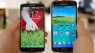Samsung Galaxy S5 vs LG G2  - Quick Look!