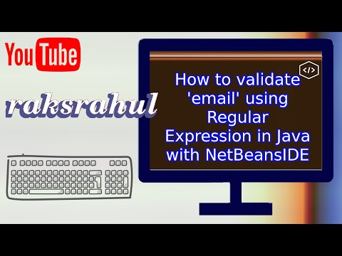 How to validate 'email' using Regular Expression in Java with NetBeansIDE