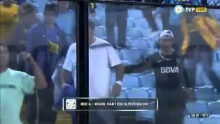 Superclásico Suspendido - Los equipos se retiraran de la cancha / Copa Libertadores 2015