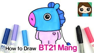 How to Draw Mang BT21 | BTS J-Hope Persona