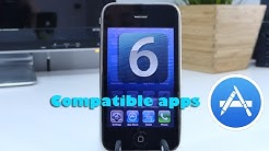 iPhone 3GS iOS 6 Finding Old Compatible Apps in 2017