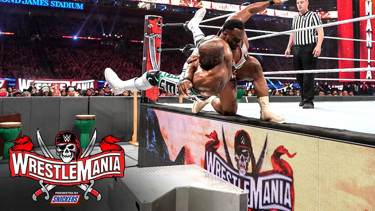 Big E slams Apollo Crews onto steel steps: WrestleMania 37 – Night 2 (WWE Network Exclusive)