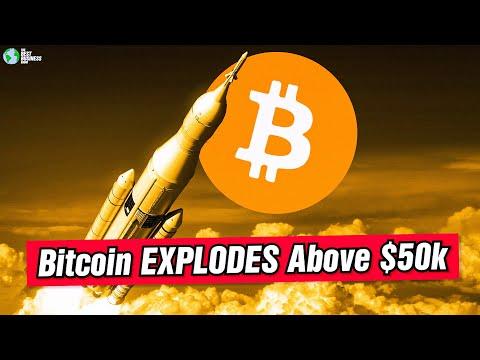 Bitcoin ROCKETS Above 50k!