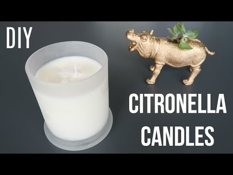 Diy Citronella Candles How To Make Mosquito Repellant Candles