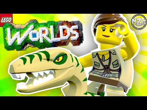 I Found A DINOSAUR!! - LEGO Worlds Gameplay - Episode 18