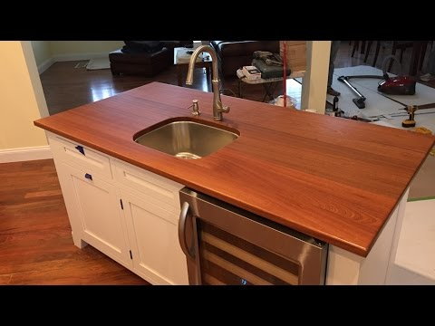 Installing A Kitchen Sink And Wooden Threshold Youtube
