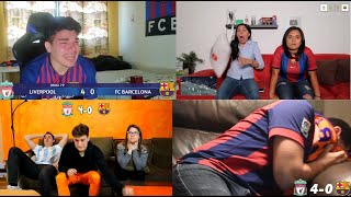 Liverpool vs Barcelona 4 - 0 Best Fans Reaction