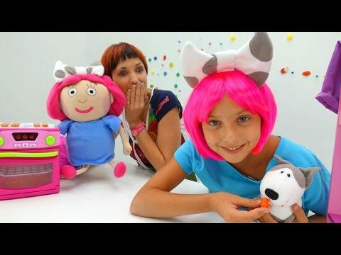 Игры для детей. Маша (Капуки кануки), Смарта и подружка Полен - делаем печенье Плей До для Спотти.