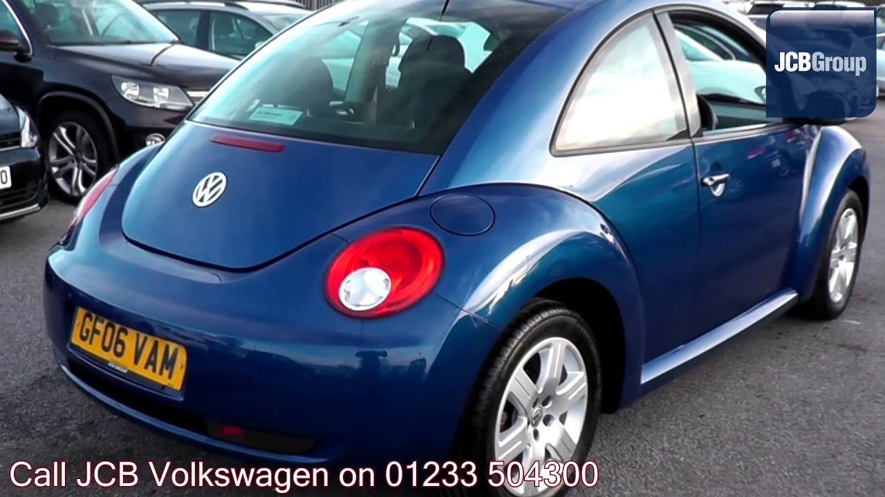 2006 volkswagen beetle luna laser blue metallic gf06vam for sale at jcb vw ashford youtube. Black Bedroom Furniture Sets. Home Design Ideas