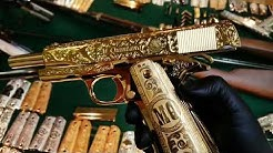 Gold plated and engraved Colt 1911 38 super