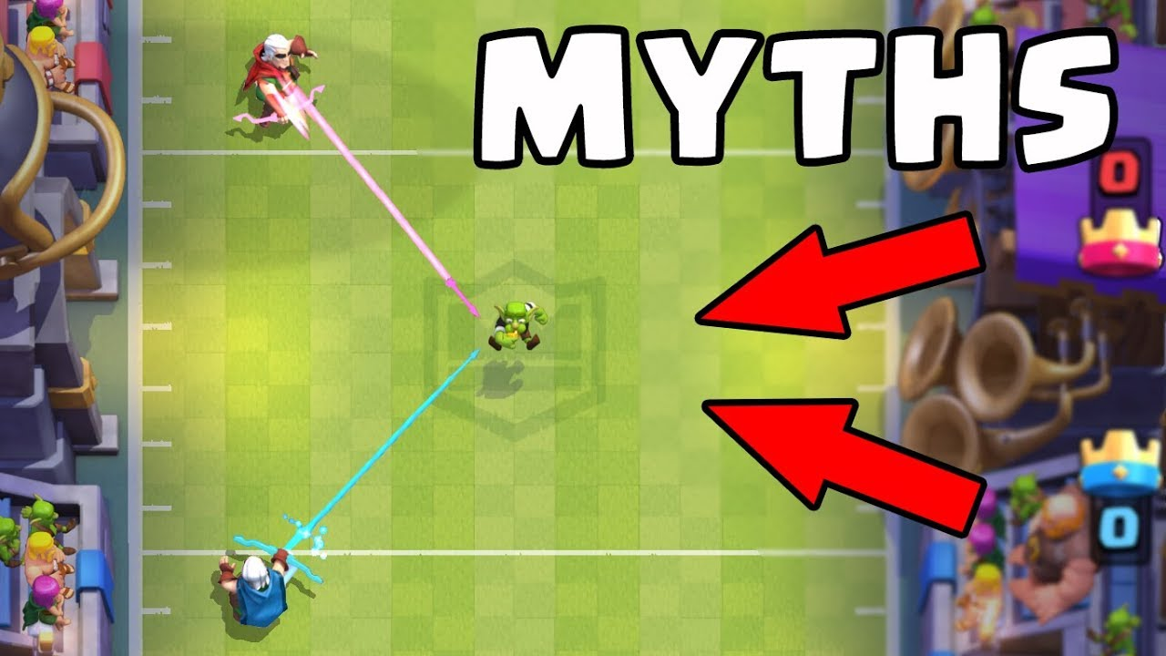 Top 10 des mythes à Clash Royale | Mythes # 9 + vidéo