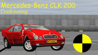 MercedesBenz CLK 208 beta crash testing