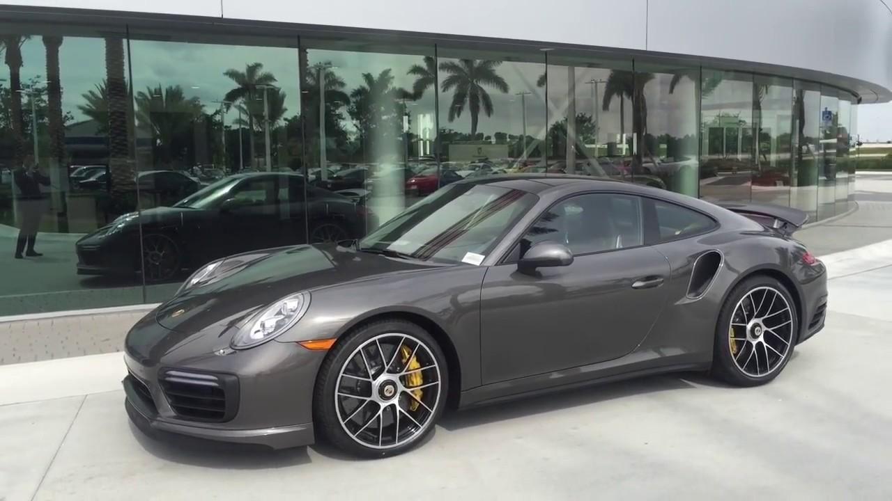 2017 Agate Grey Porsche 911 Turbo S 580 Hp Porsche West