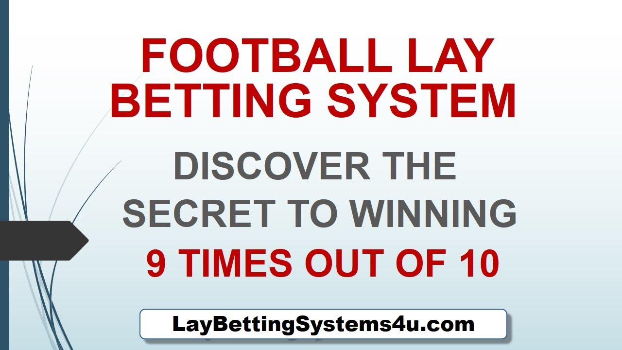 Football lay betting m cook betting