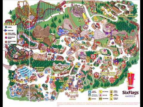 Theme Park Maps Seaworld Six Flags Universal Resorts