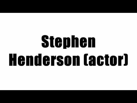Stephen Henderson (actor)