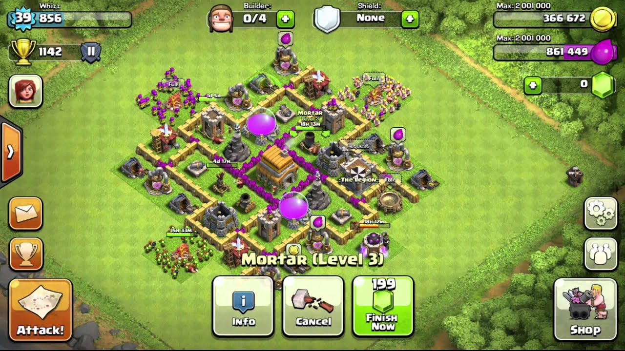 Clash of Clans: Town Hall 6 Defensive Base - YouTube