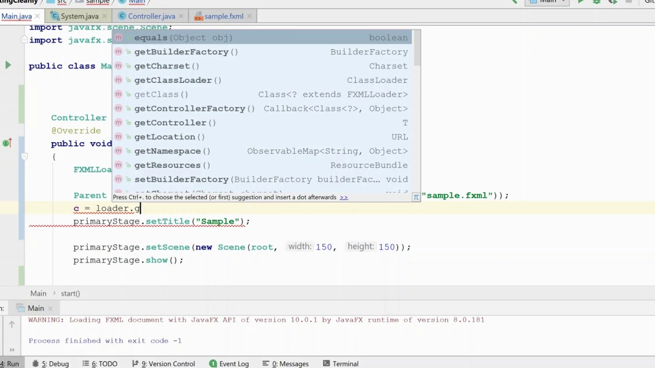 Fxml loader error