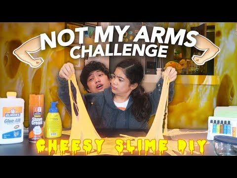 Download Youtube: NOT MY ARMS CHALLENGE (Cheesy Slime DIY) | Ranz and Niana