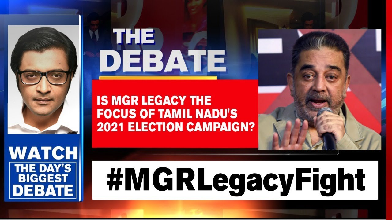 Is MGR Legacy The Focus Of Tamil Nadu's 2021 Election Campaign? | Arnab Goswami Debates