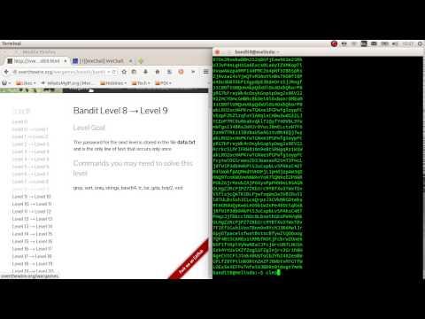Overthewire.org [SPOILER] wargame BANDIT Level 8-9
