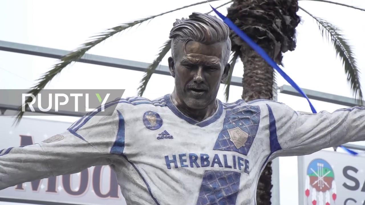 USA: LA Galaxy unveils David Beckham statue in Los Angeles ...