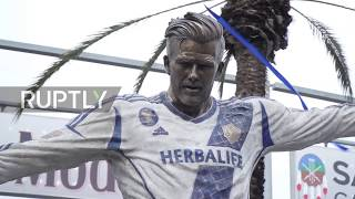 USA: LA Galaxy unveils David Beckham statue in Los Angeles