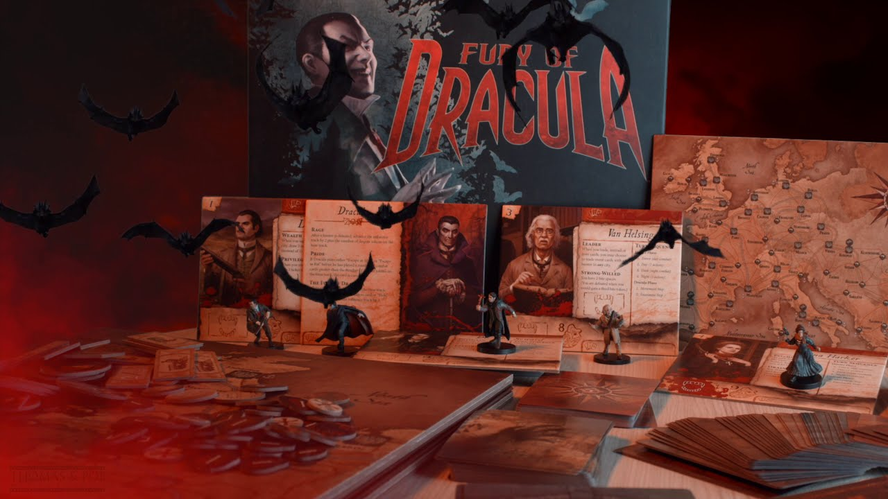 THE FURY OF DRACULA Board Game  (trailer)